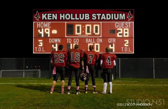 Waukesha BLackshirts Last Game 2012 Scoreboard Photo